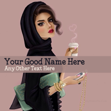 Arab Girl Drawing - Design your own names