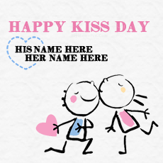 Best Happy Kiss Day Wish - Design your own names