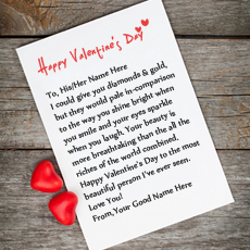 Best Happy Valentine Wish - Design your own names