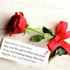 Best Rose Day Greeting - Design your own names