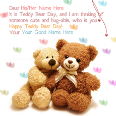 Happy Teddy Day name pictures - Best Teddy Bear Day Wish
