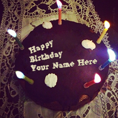 Birthday Cake for Boy Friend - Design your own names