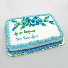 Birthday Flowers Cake - Design your own names