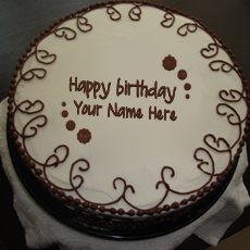 Border Chocolate Cake - Design your own names