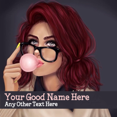 Bubble Girl Drawing - Design your own names