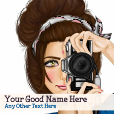 Camera Girl Drawing - Design your own names