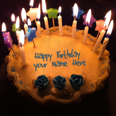 Candles Birthday Cake - Design your own names