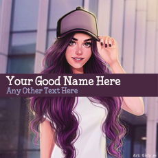 Cap Girl Drawing - Design your own names