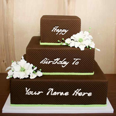 Chocolate Shaped Birthday Cake - Design your own names