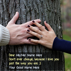 Love name pictures - Couple Hands