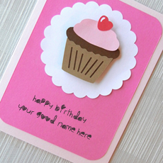Wishes name pictures - Cupcake Birthday Wish Card