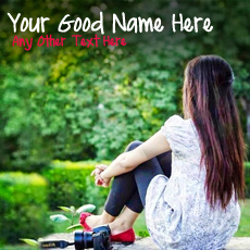 Cute Girl Waiting - Design your own names