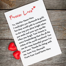 Stuff name pictures - Forever Love Note