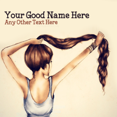 Girl Hair Drawing - Design your own names