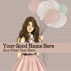 name pictures - Girl With Baloons