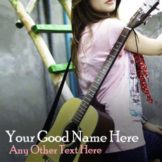 Guitar Girl - Design your own names