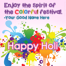 Happy Holi 2015 - Design your own names