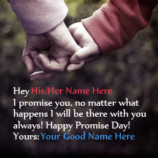 Happy Promise Day Couple - Design your own names