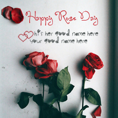 Happy Rose Day - Design your own names