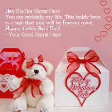 Happy Teddy Day name pictures - Happy Teddy Bear Day
