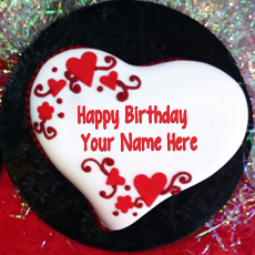 Birthday Cakes name pictures - Heart Shaped Birthday Cake