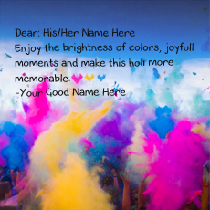 Happy Holi name pictures - Holi Wishes