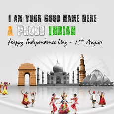15th August name pictures - 15th August Independence day India