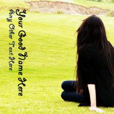 Alone Girl Waiting - Design your own names