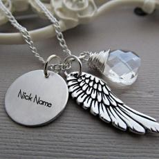 Angel Wing Necklace - Design your own names