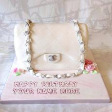 Birthday Cakes name pictures - Bag Girly Cake