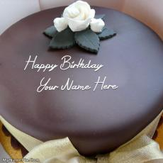 Beautiful Chocolate Cake - Design your own names