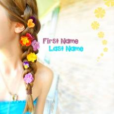 Beautiful Flowers Girl - Design your own names