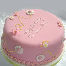 Beautiful Happy Birthday Cake - Design your own names