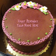 Birthday cake flowers - Design your own names