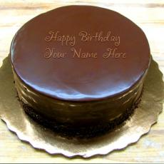 Birthday Chocolate Cake - Design your own names