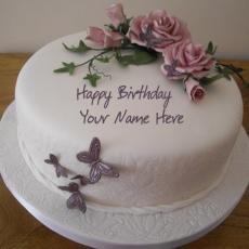 Birthday Cakes name pictures - Birthday Flower Cake