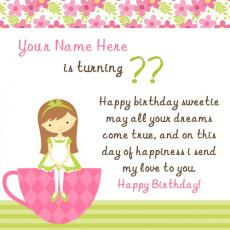 Wishes name pictures - Birthday Wish for Girl