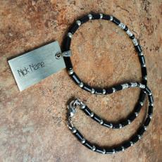Black onyx nick name necklace - Design your own names