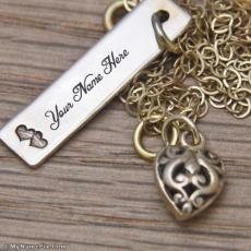 Bronze Tag Necklace - Design your own names