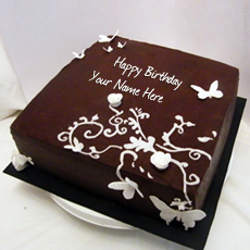 Birthday Cakes name pictures - Butteryfly Chocolate Birthday Cake