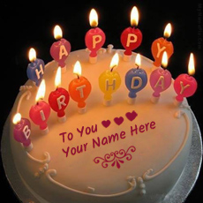 Birthday Cakes name pictures - Candles Happy Birthday Cake