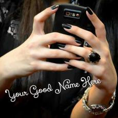 Girls name pictures - Cell Phone Girl in Black