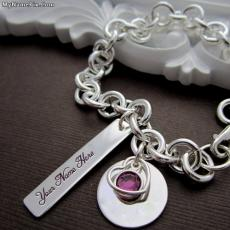 Charm Heart Necklace - Design your own names