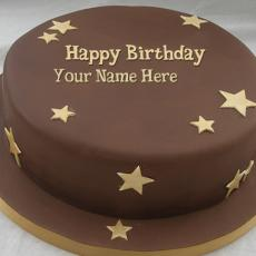 Chocolate Stars Cake - Design your own names
