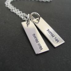 Couple Names Silver Pendant - Design your own names