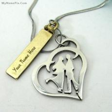 Jewelry name pictures - Couple Pendant
