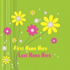 Cute Flowers - Design your own names
