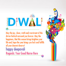 Diwali Greetings name pictures - Deepwali Greeting Card