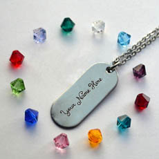 Elegant Silver Pendant - Design your own names