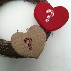 Fabric Hearts - Design your own names